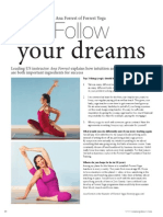Ana Forrest 9-page special on Yoga for beginners, Yoga poses