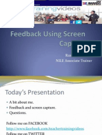 Plenar at UK English about using ICT for feedback