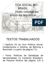 Política Social no Brasil até 1930