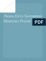 Nokia Data Gathering Windows Phone Client