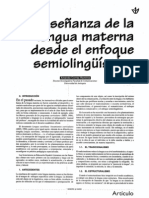 LA ENSEÑANZA DE LA LENGUA MATERNA DESDE EL ENFOQUE SEMIOLINGUISTICO   AMANDA CORREA