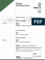 IEC 60068-2-6 Ensayo Fc-Vibracion (Sinusoidal)
