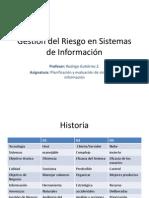 Gestión del Riesgo en Sistemas de Información