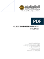 Guide to Postgraduate Studies