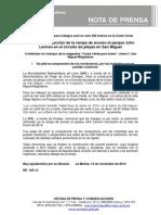 NP. 105-13 Inicia la construcción de la rampa de acceso al parque John Lennon en San Miguel