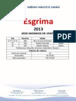 Horários - Esgrima 2013