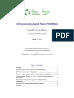 Defining Sustainable 2005