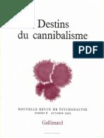 Destins du Cannibialisme - Hélène Clastres