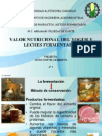 VALOR NUTRICIONAL DEL YOGUR Y LECHES FERMENTADAS.pptx