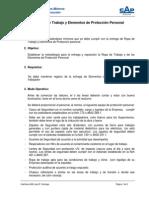Estándar de Elementos de Protección Personal y Ropa de Trabajo - (GPM-CAP) Rev B