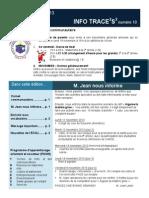 Info-traceess numéro 10, le 12 novembre 2013