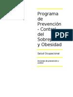 Programa de Prevencion y Control Del Sobrepeso y Obesidad
