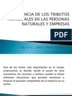 Incidencia de Los Tributos Municipales en Las Personas Naturales y Las Empresas