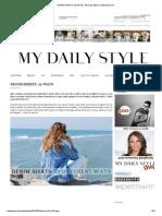 DENIM SHIRTS_ 20 WAYS _ My Daily Style en Stylelovely