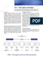 ViaLite - Application Note 037 - Fibre Optic Link Budget