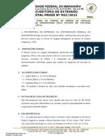 Edital Nº 0522013 Curso de Férias