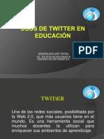 USOS DE TWITTER EN EDUCACIÓN