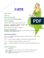 Proiect Didactic Matematica Clasa i Inspectie