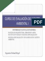 EVALUACIÓN DE IMPACTO AMBIENTAL I