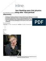 Professor Stephen Hawking says that physics is LESS interesting after 'God particle' discovery _ Mail Online.pdf