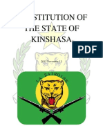 CONSTITUTION OF THE STATE OF KINSHASA