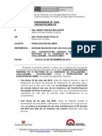 Informe de paralización de obra supervision