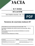 Pretensionare Curea Distributie (Motoare K7J Si K7M)