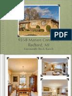 9358 Marion Crescent, Redford, MI | Eisensmith Brick Ranch