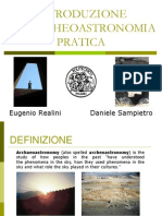 ARCHEOASTRONOMIA PRATICA