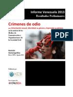 ACCSI 2013 Informe Crimenes de Odio Por Homofobia Revision Hemerografica Enero 2009 Agosto 2013