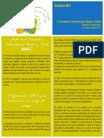 Boletín No. 1 del 12 Encuentro Internacional sobre Mujer y Salud 2014