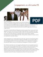 CHOGM Real Engagement, Or a Sri Lanka PR Exercise