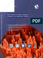 RECENT ADVANCES in CHEMICALENGINEERING, BIOCHEMISTRY andCOMPUTATIONAL CHEMISTRY
