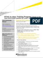 CFA Level I and Level II 2014 Brochure