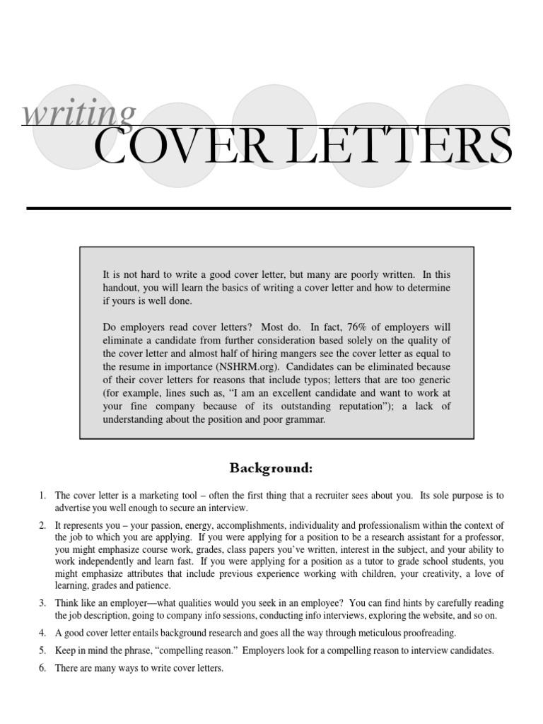 University Chicago Cover Letter Samples Email