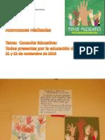 Actividades realizadas sobre consulta todos por la educacion de pr.ppt