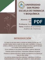 Diapos de Analisis de Vitaminas y Proteinas