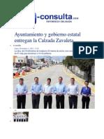 11-11-2013 E-consulta.com - Ayuntamiento y Gobierno Estatal Entregan La Calzada Zavaleta