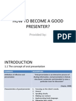 How to be a good presenter 1.ppt
