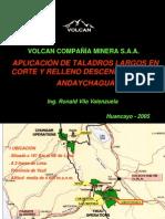 APLICACIÓN DE TALADROS LARGOS EN CORTE Y RELLENO DESCENDENTE MINA ANDAYCHAGUA