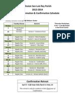Confirmation Calendar 2013-2014