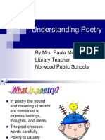 Slides on Types of Poems and Poetic Devices | Rhyme | Poetry