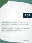 Ontario's reaction to MOOCs