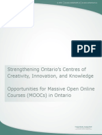 Ontario's reaction to MOOCs