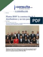 12-11-2013 e-consulta.com - Plantea RMV la construcción de 3 distribuidores y un tren para 2014