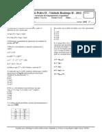Lista de exercícios de Exponencial e Logaritmo