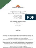 ATPS Metodologia da História e Geografia (1)