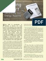 Calculo de consumo de energía