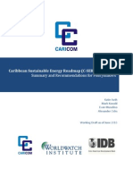 Caribbean Sustainable Energy Roadmap, Phase 1, Working Draft June 2013