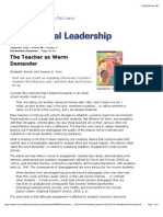 Teacher as Warm Demander